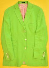 Lilly Pulitzer Lime Green English Cut Linen Blazer Sz: 46L'
