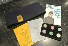 1980s Boys Brigade Hat, Arm Band with badges, club books bundle