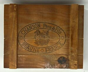 Chanson Pere & Fils Wooden Wine Box over 40 Years Old from Beaune France