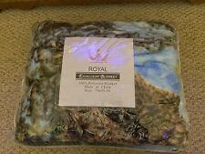 New Royal Blanket Fleece Plush Eagle Queen Size 100% Polyester