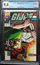 G.I.JOE #107 1990 CGC 9.4 WHITE PAGES SNAKE EYES,SHADOW STORM  RARE IN CGC!