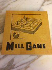 MILL BOARD GAME  #553 - TEST YOUR IQ Drueke & Sons