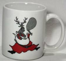 Neiman Marcus Holiday Santa and Reindeer LINYI Coffee Mug