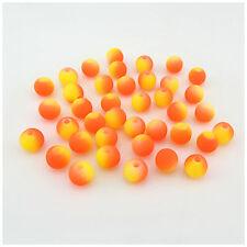 BBA224 50 cuentas de vidrio esmerilado ronda 8MM-Naranja