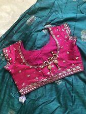 Pink Embroidered Silk Designer Wedding Wear Indian Bridal Heavy Lehenga Choli