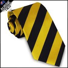 Mens Yellow & Black Stripes Sports Tie Richmond Tigers Colours