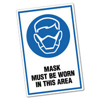 Mask Must Be Worn In This Area Sticker Decal Safety Sign Car Vinyl #6437ST