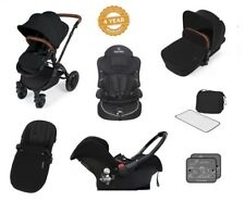 Ickle Bubba Stomp V2 AIO Travel System + 2nd Stage Car Seat- Black on Black