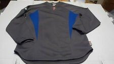 Mens Large Philadelphia Phillies Majestic Therma Base Gray & Blue Pullover Used