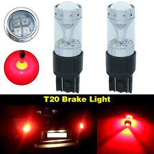 New 7443 7440 T20 80W High Power CREE LED Brake Tail Stop Light Bulbs Red 2000LM