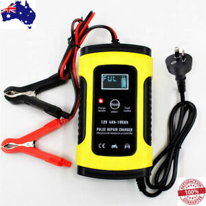 Model 6 Stage Trickle Smart Charger Car Motorcycle 12V 6A LCD Lead Acid Battery