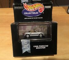 Hot Wheels 100% Black Box Limited Edition Silver 1998 Porsche Boxster