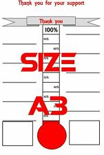 Size A3 Fund Raising Thermometer Progress Thermometer