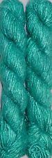 500 Grams Himalaya Recycled Turquoise Soft Sari Silk Yarn Hand Knitting 5 Skeins