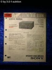 Sony Service Manual TA 717 / 717M / 818 / 818M Amplifier (#0749)