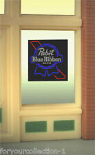 Pabst Blue Ribbon Beer Animated Neon Window Sign   #8825 MILLER ENGINEERING