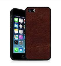 Backhug Slim Case for Apple iPhone 5 5s, Black Frame & Vintage Old Leather