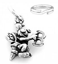"""SILVER """"SPELLING BEE"""" CHARM/ PENDANT WITH SPLIT RING"""