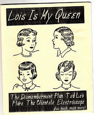 Lois Is My Queen #1 Zine The Dismemberment Plan Ted Leo Interview Flare 2001