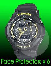 Casio men's gw3500b-1a g-shock aviateur watch face protector x 6 Protection