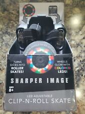 Sharper Image Clip-N-Roll Skates, Strap-in Adjustable Roller Skate Frame for Kid