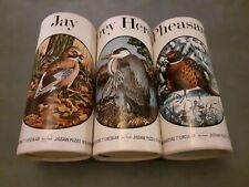 Three Waddington's 61 piece Vintage RSPB Jigsaws, Jay, Grey Heron, Pheasant.