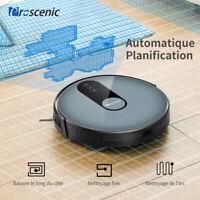 Proscenic 820P Alexa Robot Aspirateur Nettoyage poussière poil animaux dur tapis