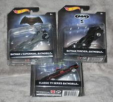 3 HOT WHEELS CARS BATMAN CLASSIC BATMOBILE BATMAN FOREVER BATMAN V SUPERMAN