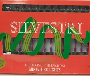 SILVESTRI Christmas Lights 50 miniature Pink lights for Indoor Outdoor use Flash