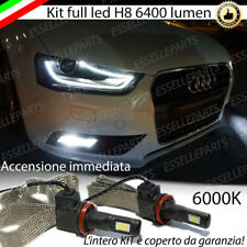 COPPIA LAMPADE H8 LED CANBUS 6400 LUMEN FENDINEBBIA AUDI A4 B8 RESTYLING
