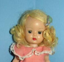 "VINTAGE NANCY ANN MUFFIE DOLL 8"" SLW 1950'S IN CUTE OUTFIT"