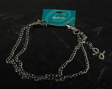 """Claire's Accessories Jean Chain with Crystal Initial Letter L 18"""" Chain NOC"""