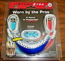 Sportstar Evolution Chin Guard Evogel, Size L - Xl, Royal Blue, Brand New!