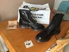 Vintage Dr Martens 1460 Noir Bottes en Cuir UK 7 EU 41 Peau Punk Goth Angleterre