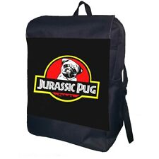 Jurassic Pug Backpack School Bag Travel Daypack Personalised Backpack