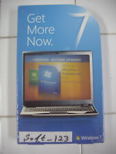 Microsoft Windows 7 Home Premium to Professional Anytime Upgrade =NEW SEALED=
