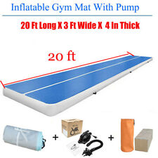 20FT Unisex Inflatable Air Track Floor Home Gymnastics Tumbling Mat GYM + Pump