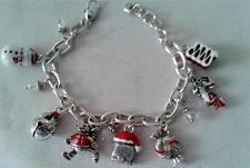 Brighton Christmas bracelet 7 charms chain silver plated modern fashion
