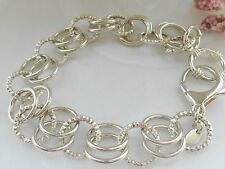 "QVC- Rolo link Sterling silver 8"" Bracelet"