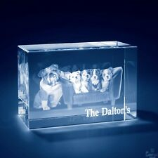 Laser Engraved 3D Crystal Personalized Gift XX-Large Brick Shape + Base