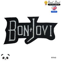 Bon Jovi Patch Music Band Embroidered Iron On Sew On PatchBadge For Clothes etc
