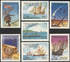 Tanzania 1992 Veleros/Columbus/Marino/barcos/transporte/historia 7v Set (b5918)