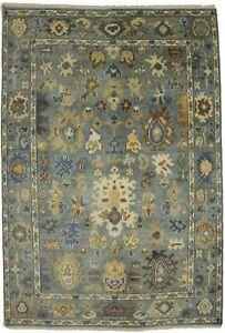 Gray Floral Design Handmade 6X9 Royal Oushak Oriental Area Rug Home Decor Carpet