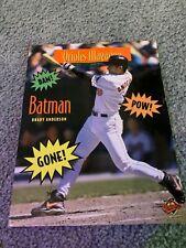 1996 Baltimore Orioles v New York Yankees Baseball Program Yankees Sweep