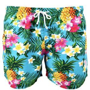 Aloha Turquoise Mens Hawaiian Shorts Party