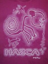 Nazca Peru Mayan  Aztec Inca Cave art Engraving Natives T Shirt XL