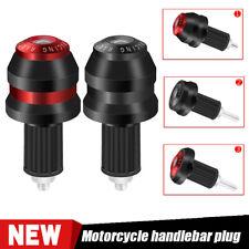 "7/8"" Motorcycle Handlebar Hand Grips Bar Ends Cap Plug For Kawasaki Honda Yamaha"