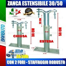 ZANCA TIPO EMILIA 30/50 CM TELESCOPICA, STAFFA PER ANTENNA - MADE IN ITALY