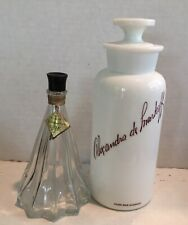 2 Display Only Perfume Bottles Large Vintage Milk Glass Demo