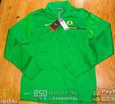 NIKE Oregon Ducks Dri-Fit Coaches GREEN HEAT 1/4 Quarter-Zip Jacket M 32866X-OD6